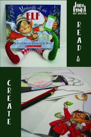 Read 'Memoirs of an Elf' with your child, and use the free printable to create your own 'elfie'!