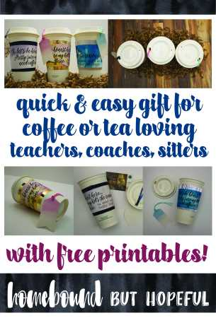 Do you think your son or daughter just might be the reason their teacher needs a little caffeine pick me up at times? Grab the free printables to put together a simple, sweet gift perfect for teachers, coaches, bus drivers, and more.