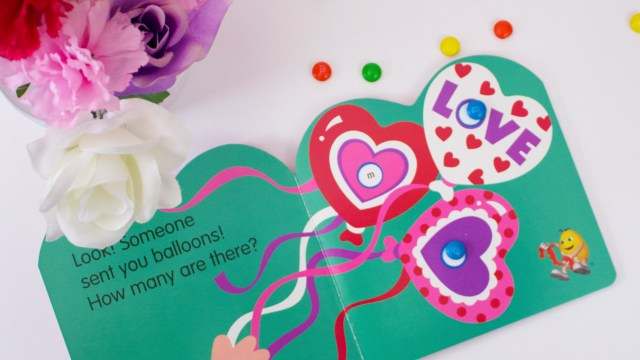 Books & Flower Fun For Toddler Valentine Play