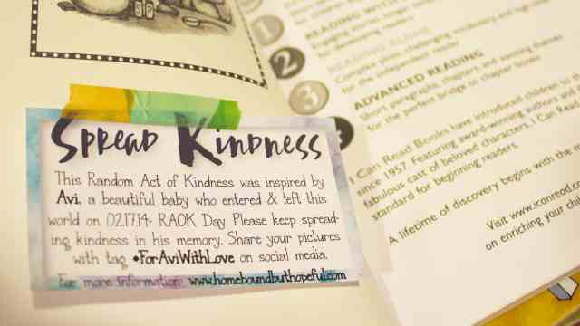 Random Acts Of Kindness Day As A Bereaved Mother