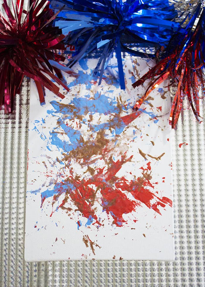 4th of July Firework Process Painting