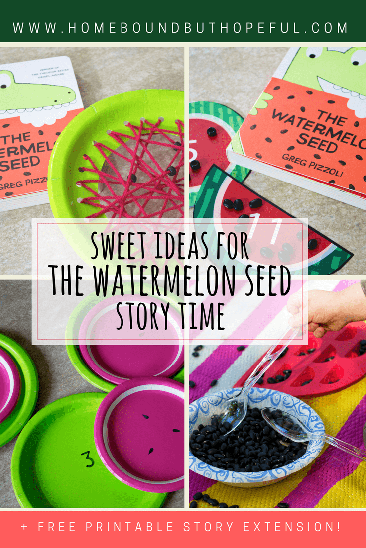 The Watermelon Seed | Greg Pizzoli | Story Time | Crafts | Printables | Early Learning | Early Math | Fine Motor