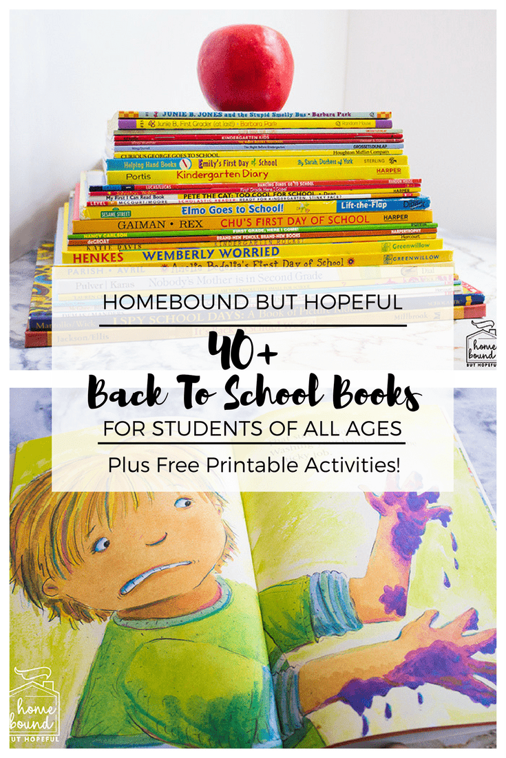 Back To School Book List- Over 40 Great Fall Book Choices for Students of All Ages. Includes Free Printable Extension Activities For Early Learning. #ChildrensLiterature #BeyondTheBook #KidLit