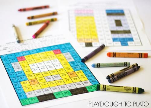 Back To School 100 Chart Playdough to Plato