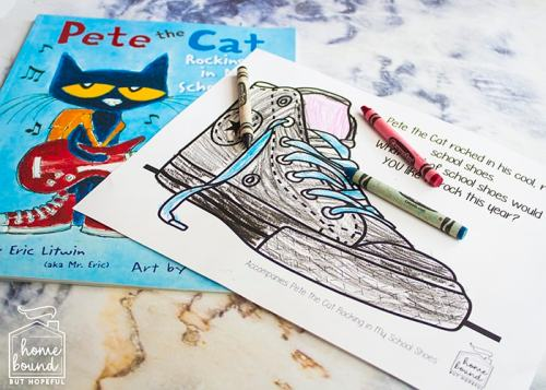 Back To School Book List- Pete The Cat Rocking In My School Shoes Printable