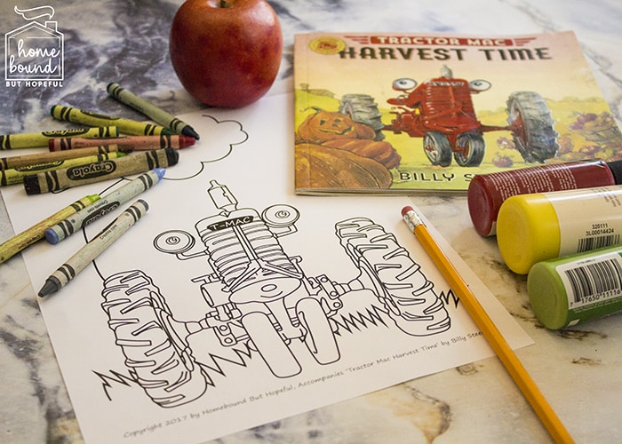 Apple Picking Harvest Time Tractor Mac: Craft