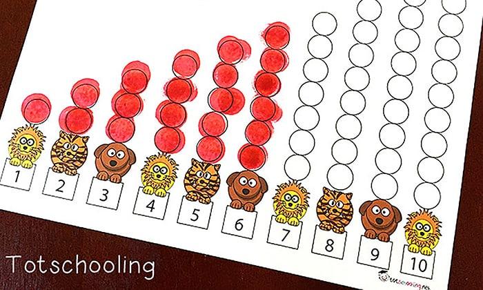 Ten Apples Up On Top- Totschooling