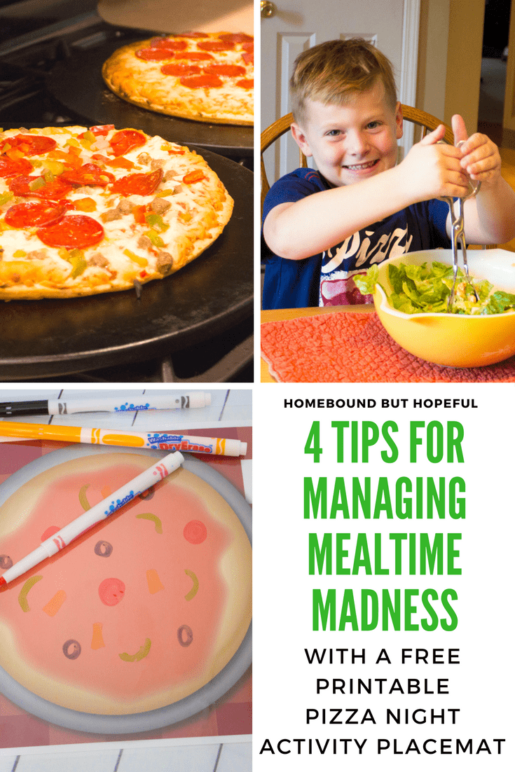 Dinner time can be crazy at my house, especially after a busy day of school and work. [ad] Check out my 4 top tips for managing meal time madness. Be sure to grab your printable pizza night placemat to keep your kiddos busy while you're getting your Red Baron® Pizza in the oven! #WingMama #pizzanight #pizzaparty #weeknightmeals