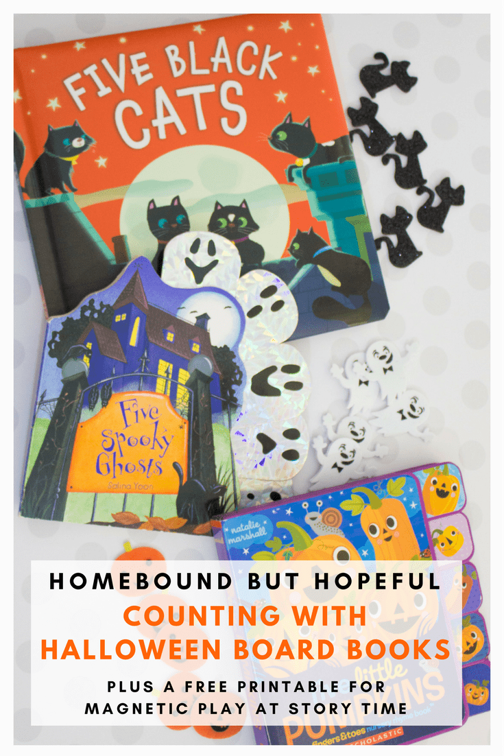 Help your kiddos feel spooky AND smart with these Halloween board books that inspire math skills! Plus, grab a free printable to create your own DIY magnetic play sets! #earlylearning #halloween #halloweenbooks #boardbooks #beyondthebook #magnets
