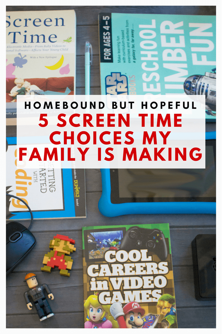 Screen time is a hotly debated issue facing parents today. Check out the 5 choices my family is making to find ways to make screen time work for us. #ad #screentime #parenting #familylife #parentingchoices