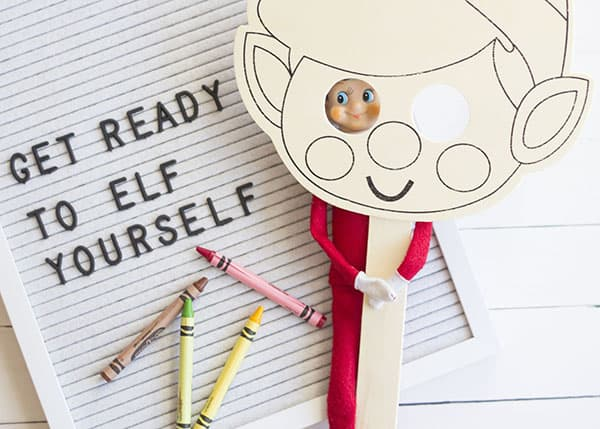 New Elf On The Shelf Ideas- Elf Yourself Mask