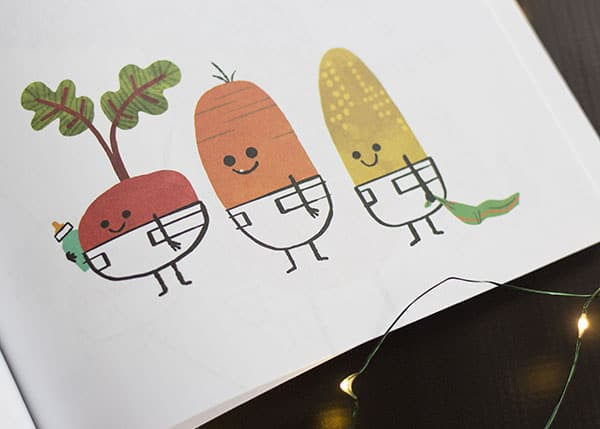 10 Kids Books To Give At Christmas- Vegetables in Underwear