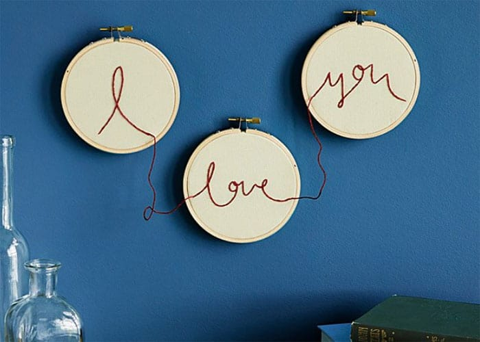 UNCOMMON GOODS CHRISTMAS LIST- EMBROIDERED I LOVE YOU