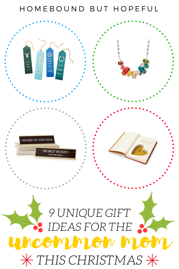 Worried about what your husband might pick out for your this Christmas? (I am!) Check out my list of suggestions for unique gifts for uncommon moms and send a few links his way! #ad #uncommongoods #holidayshopping #christmaslist #christmas2017 #alliwantforchristmas #giftguide