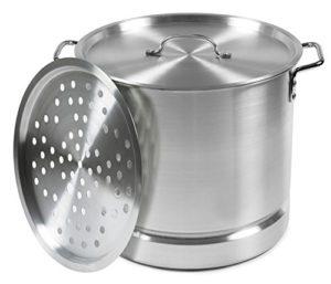 IMUSA USA MEXICANA-34 Aluminum Tamale and Steamer Pot 32-Quart, Silver
