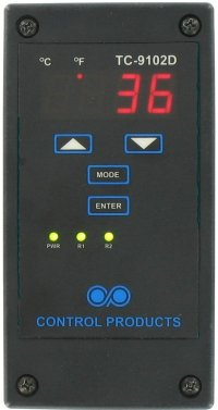 Control Products TC-9102D-HV Dual Stage High Voltage Digital Temperature Controller