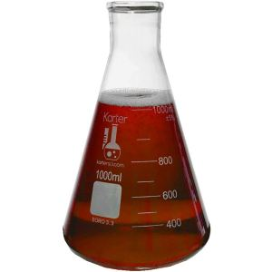 1000ml Narrow Mouth Erlenmeyer Flask, 3.3 Borosilicate Glass, Karter Scientific 213G22 (Single)