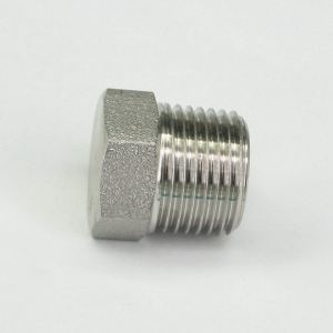 Sorekarain 1/2 NPT Male 304 Stainless Steel Hex Head Plug Forged Pipe Fitting 6000 PSI