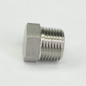 Sorekarain 1/2 NPT Male 304 Stainless Steel Hex Head Plug Forged Pipe Fitting 6000 PSI