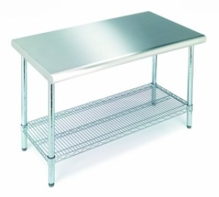 Seville Classics Commercial Stainless Steel Top Worktable, NSF Listed