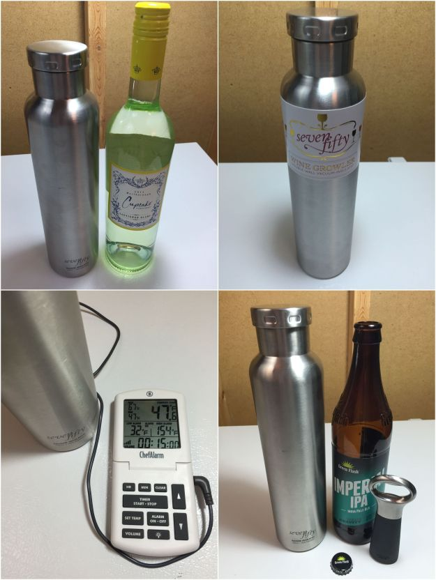 Hands On Review: 750 mL Stainless Wine and Beer Growler - Includes Temp Trials