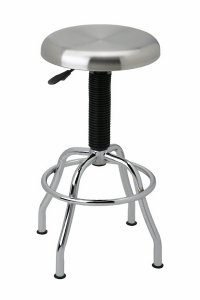 Seville Classics Commercial Stainless Steel Top Work Stool, NSF Listed