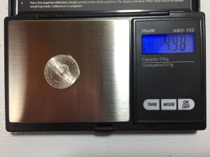 AWS 100 nickel calibration weight