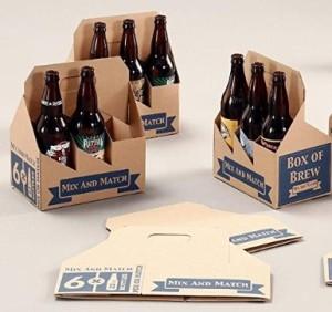W PACKAGING WP6BEERK All Kraft LG Bottle Beer Carrier (Pack of 25)