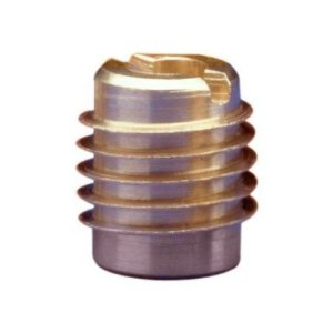 "E-Z Lok Threaded Insert, Brass, Knife Thread, 3/8""-16 Internal Threads, 0.625"" Length (Pack of 10)"