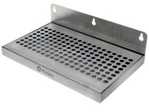 """Beer Drip Tray 10"""" Stainless Steel Wall Mount No Drain"""