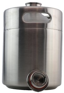 THE MICRO-KEG: Stainless Steel Keg Style Growler- standard 2 liter
