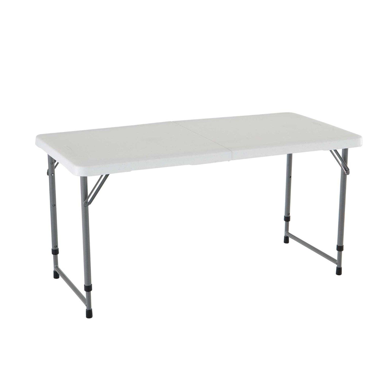 Lifetime 4 Foot Adjustable 4428 Height Folding Utility Table