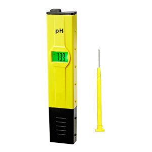 Dr.Meter® 0.01pH PH001 High Accuracy Pocket Size pH Meter with ATC (Automatic Temperature Compensation) Backlit Light LCD 0-14 pH Measurement Range, 0.01 Resolution Handheld pH Pen Tester