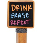Brew Tapper Chalkboard Kegerator Beer Tap Handle - Dual Sided - Beechwood