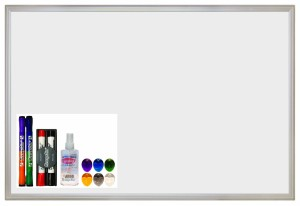 "ECR4Kids Message Store Dry Erase Bulletin Board Set, 24"" by 36"""