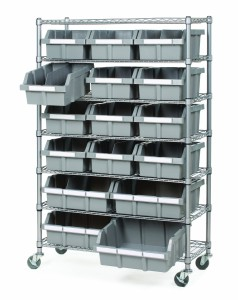 Seville Classics Commercial 7-Shelf 16-Bin Rack Storage System, NSF Certified
