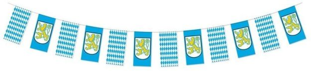 Beistle 54243 Oktoberfest Pennant Banner, 10 by 12-Feet, Blue/White/Yellow