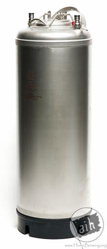 NEW 5 Gallon Cornelius Keg Single metal handle (Ball Lock) (Rubber Bottom)