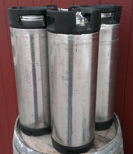 Set of Four 5 Gallon Low-Profile Ball Lock Kegs