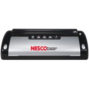 Nesco VS-02 Food Vacuum Sealer, Black/Silver
