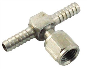 "SWIVEL FLARE TEE - 1/4"" BARBS"