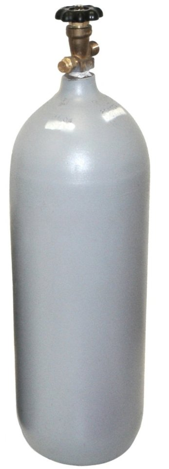 20 lb Steel CO2 Cylinder, Recertified, with New CGA320 Valve and Fresh Hydro Test