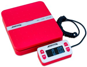 Accuteck ShipPro W-8580 110lbs x 0.1 oz Red Digital shipping postal scale, Limited Edition