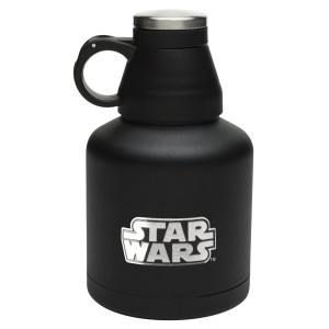 Zak! Designs Vacuum Insulated Growler with Star Wars Graphics, Convertible Screw-on Lid, Powder Coated Stainless Steel, Leak-proof Double Wall Construction for Hot & Cold Drinks, BPA-free, 32oz.