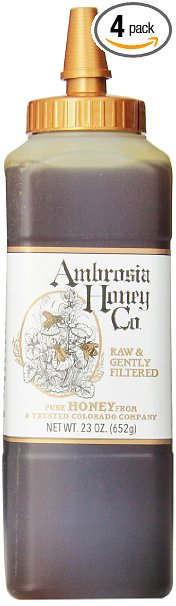 Ambrosia Pure Honey by Ambrosia Honey Co., 23 Ounce Bottles (Pack of 4)