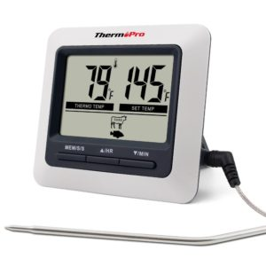 ThermoPro TP04 Large LCD Digital Kitchen Food Meat Cooking Thermometer for BBQ Grill Oven Smoker