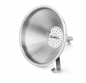 "New Star Foodservice 42641 Stainless Steel Funnel with Detachable Strainer/Filter, 5"", Silver"
