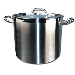 Winware Stainless Steel 60 Quart Stock Pot with Cover