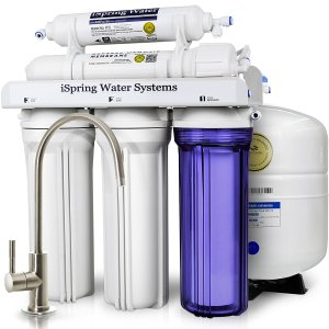 iSpring RCC7 WQA Gold Seal Certified 5-Stage Reverse Osmosis Drinking Water Filter System - 75 GPD