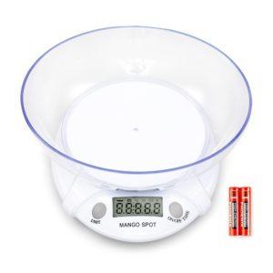 Mango Spot 11lb/5kg Digital Kitchen Food Scale Mixing Bowl